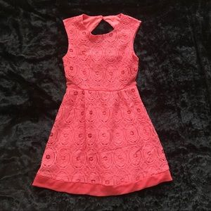 Dresses & Skirts - Pink lace eyelet dress NWOT